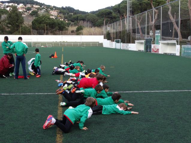 Entrenamiento en en Club de Futbol Alella
