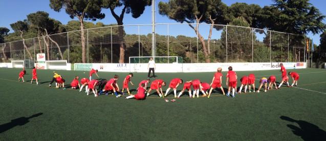 Entrenamiento de fútbol para preparar el Torneo de mañana.