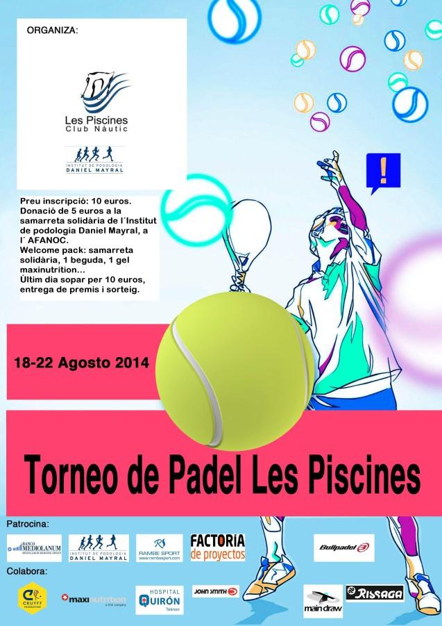 La camiseta solidaria está presente en el Torneo de pádel Club Nàutic Les Piscines.